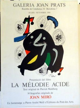 Poster Miró - La Mélodie Acide 1980