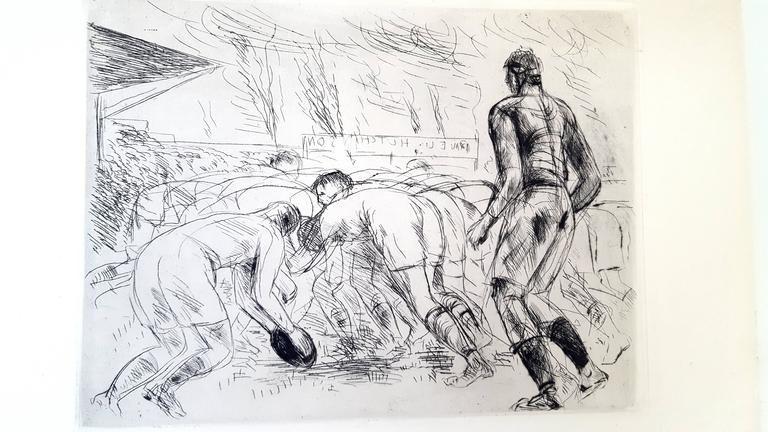 Lithograph De Segonzac - La Mêlée