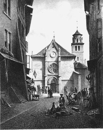Lithograph Fontanesi - La Madeleine