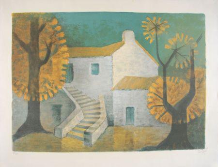 Lithograph Toffoli - La Maison Corse