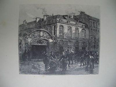 Woodcut Lepere - La maison où mourut Béranger