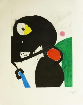 Etching Miró - La mangeuse de crabes