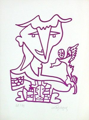 Lithograph Lapicque - La mascotte