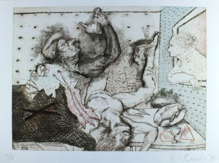 Etching And Aquatint Condé - La masia