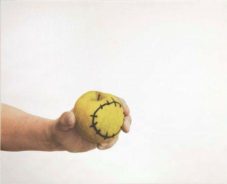 Screenprint Pistoletto - La mela reintegrata
