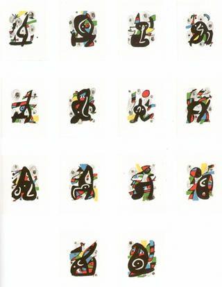 Lithograph Miró - La melodie àcide