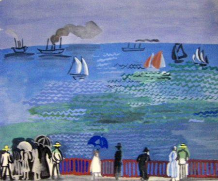 Pochoir Dufy - La Mer Au Havre