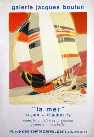 Lithograph Ambille - La Mer  Galerie Jacques Boulan