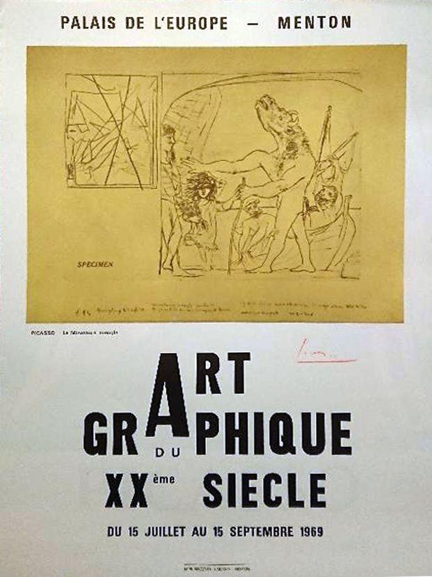 Poster Picasso - '' La Minotaure Aveugle ''