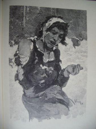 Woodcut Vierge - La misère à Londres