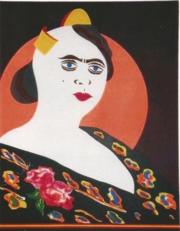 Lithograph Arroyo - La moglie del Minatore p. Martinez, Constantina