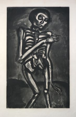 Intaglio Rouault - La Mort l'a Pris Comme Il Sortait du ut d'orties (Death Took Him as he Rose from his Bed of Nettles)