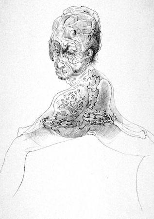 Lithograph Bellmer - La morte