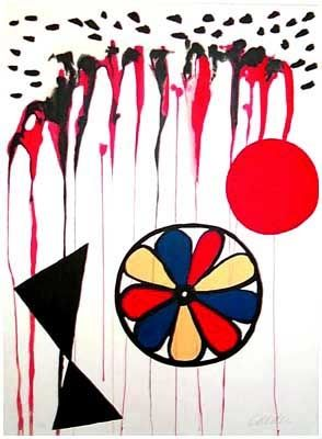 Lithograph Calder - La Mousson (1965)