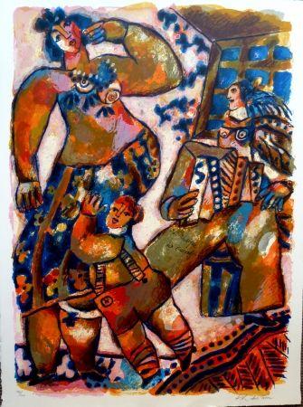 Lithograph Tobiasse - La Musique des Carrefours