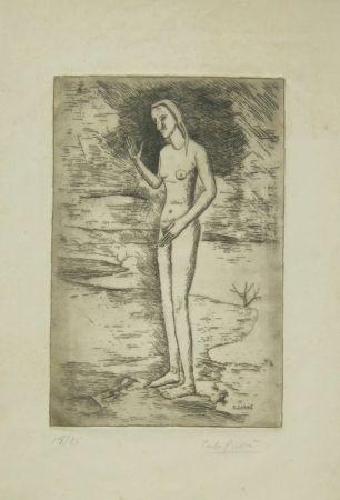 Etching Carra - La nascita di Venere, 1923