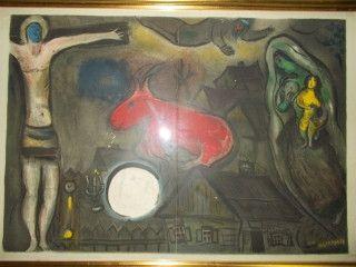 Lithograph Chagall - La nativité