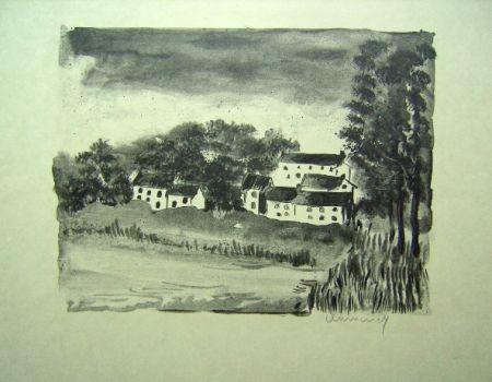 Lithograph Vlaminck - La Naze, le Village