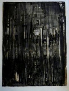 Lithograph Vieira Da Silva - La nef
