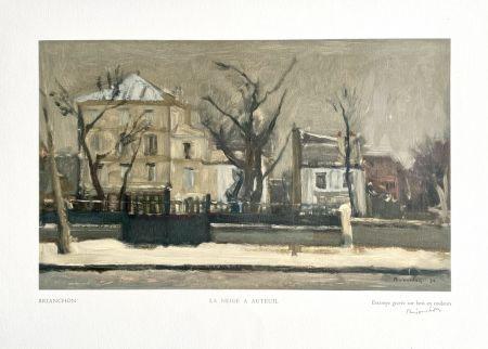 Woodcut Brianchon -  La Neige à Auteuil