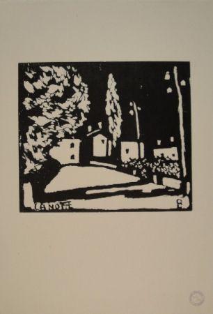 Woodcut Giacometti - La Notte I