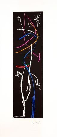 Etching Miró - La nuit étroite