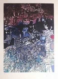 Etching And Aquatint Prassinos - La nuit de l'eau