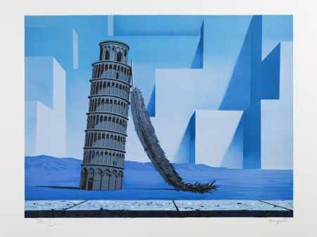Lithograph Magritte - La Nuit de Pise (Night in Pisa)