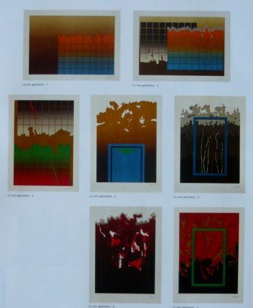 Lithograph Lopez Osornio - La otra geometria _ 7 lithographs