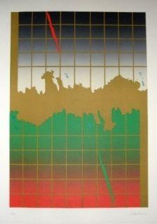 Lithograph Lopez Osornio - La otra geometria 8