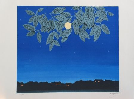 Lithograph Magritte - La Page Blanche