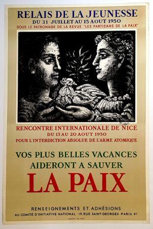 Lithograph Picasso - La Paix - Relais de la Jeunesse