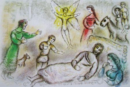 Lithograph Chagall - La Paix Retrouvee - L'odyssee Ii