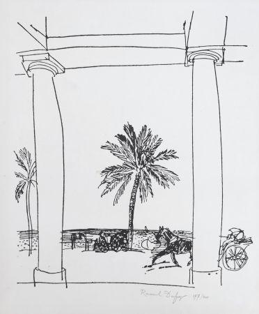 Lithograph Dufy - La Palais de la Méditerranée