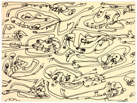 Lithograph Saura - La paresse
