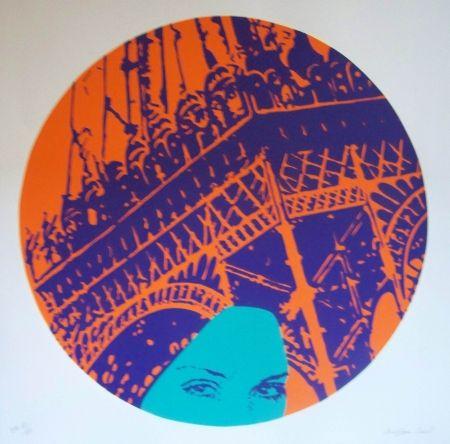 Lithograph Messac - La parisienne