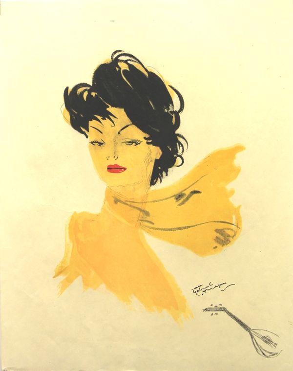 Lithograph Domergue - La Parisienne   GiGi