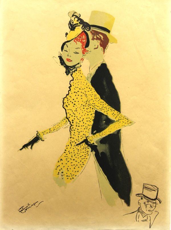 Lithograph Domergue - La  Parisienne  La Belle Helene