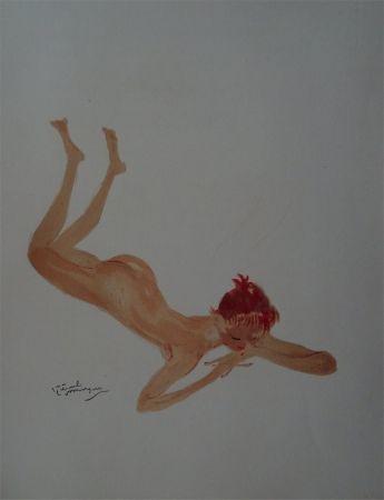 Lithograph Domergue - La Parisienne: Sabine