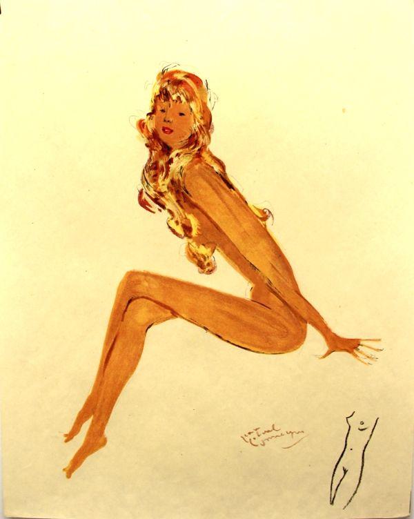Lithograph Domergue - La parisienne   Sylvie