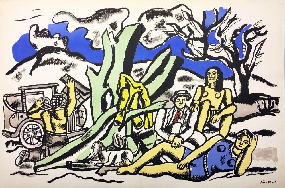 Lithograph Leger - LA PARTIE DE CAMPAGNE (1951-1953)