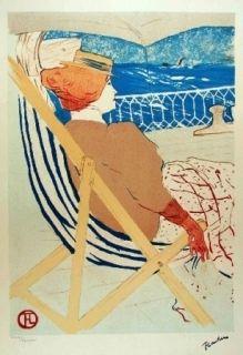 Lithograph Toulouse-Lautrec - La passagère du 54