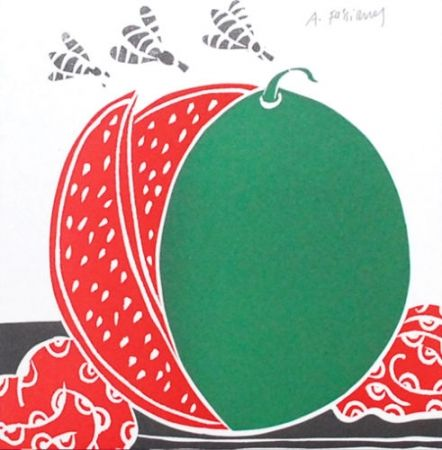 Lithograph Fassianos - La pastèque