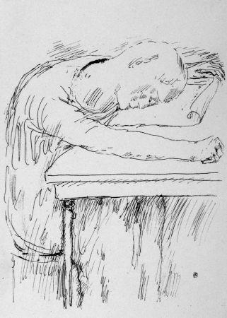 Lithograph Bonnard - La pausa
