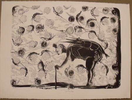 Lithograph Toledo - La pescadora