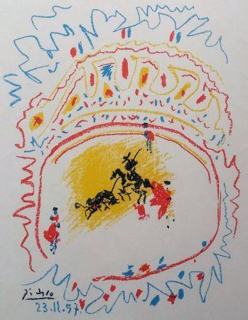 Lithograph Picasso - '' La Petite Corrida ''