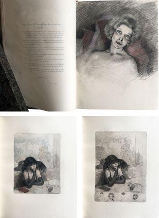 Illustrated Book Chimot - LA PETITE JEANNE PÂLE, suivi de la Petite Sirène du Pont des Arts (1922). 1 des 5 Japon avec dessin original et suites.