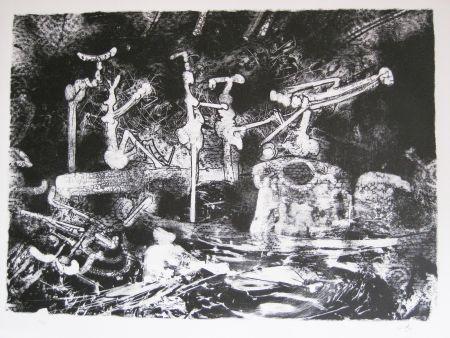 Lithograph Matta - La pioggia cade ed a' fossati venne