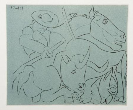 Etching Picasso - La Pique cassée