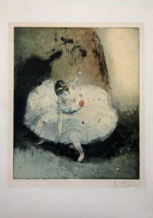 Etching And Aquatint Brouet - La Pirouette